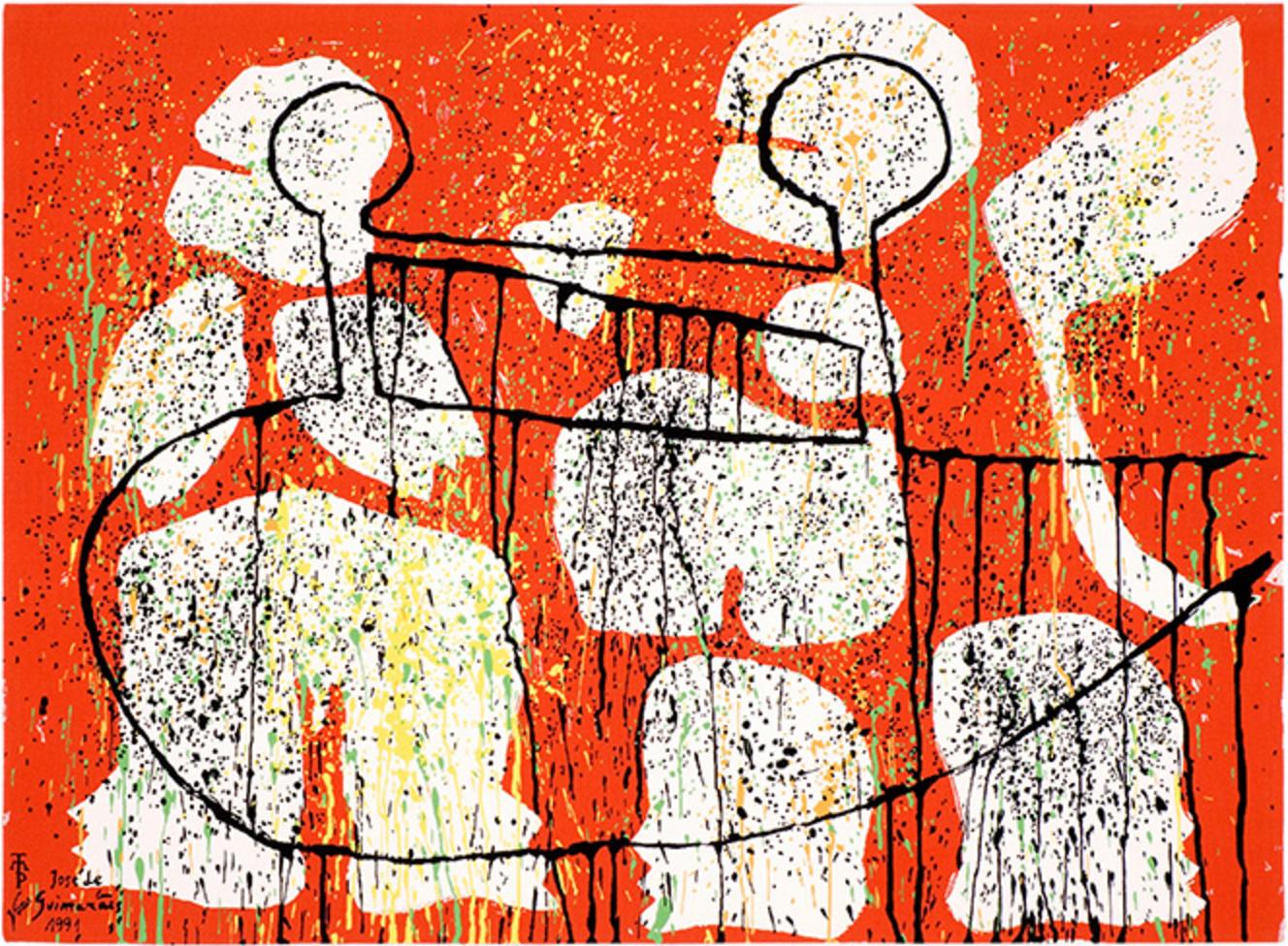 """""""Descobridores II"""", José de Guimarães (Imagem: Reprodução Manufactura e Tapeçarias de Portalegre)"""