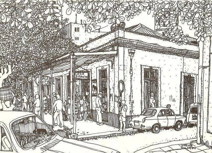 Fachada da Casa Elefante desenhada por Dana Michahelles na década de 70 (Imagem: Reprodução Facebook)