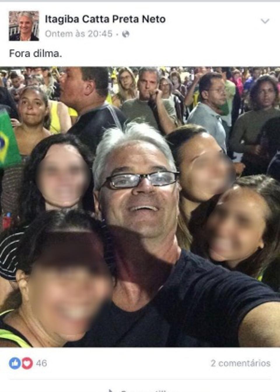 O Juiz nas últimas manifestações anti-Dilma Rousseff.