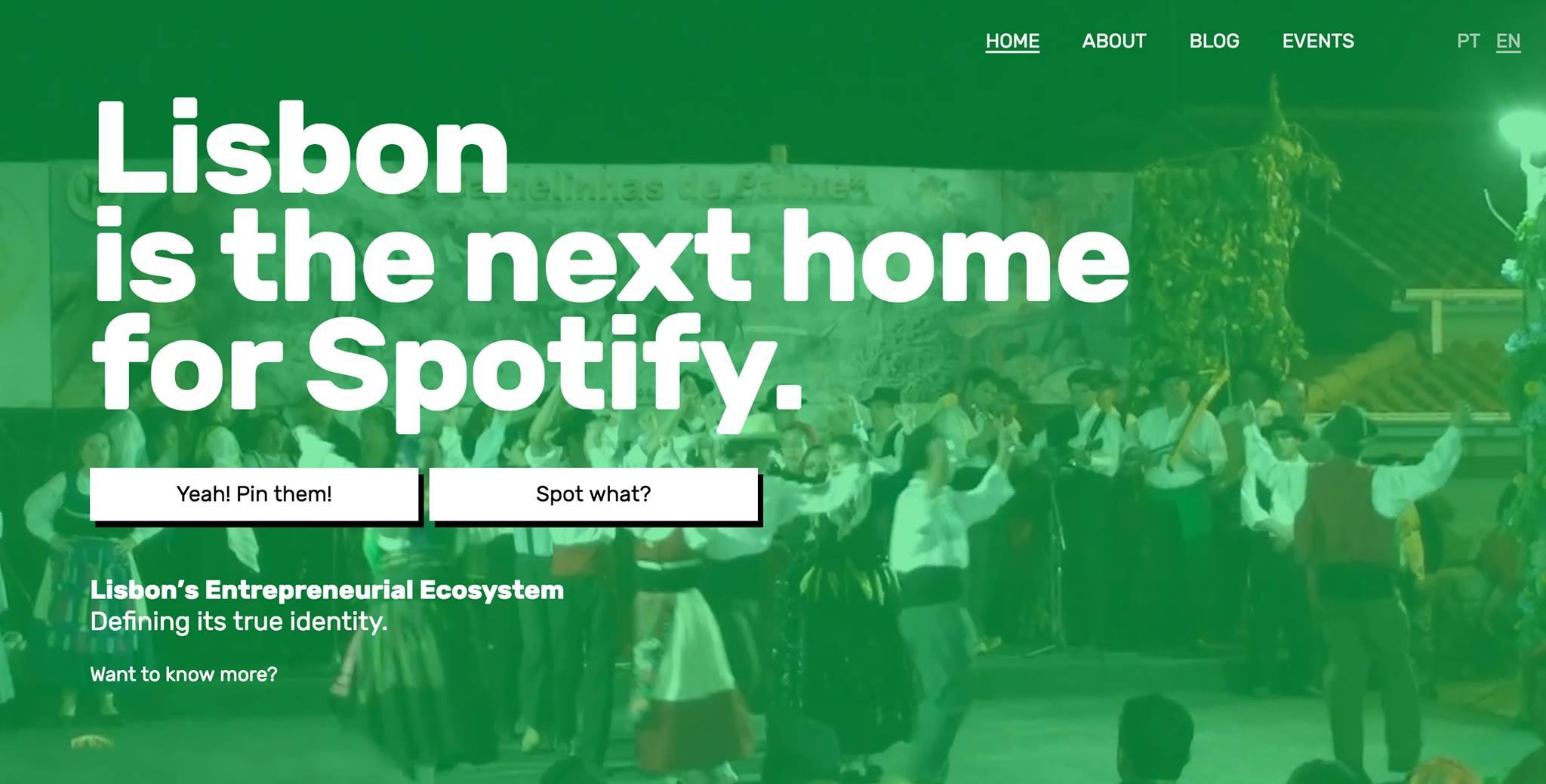 """""""Lisboa pode ser a nova casa do Spotify""""pode ler-se no grupo de facebook criado para o efeito (Imagem: Reprodução Facebook)"""