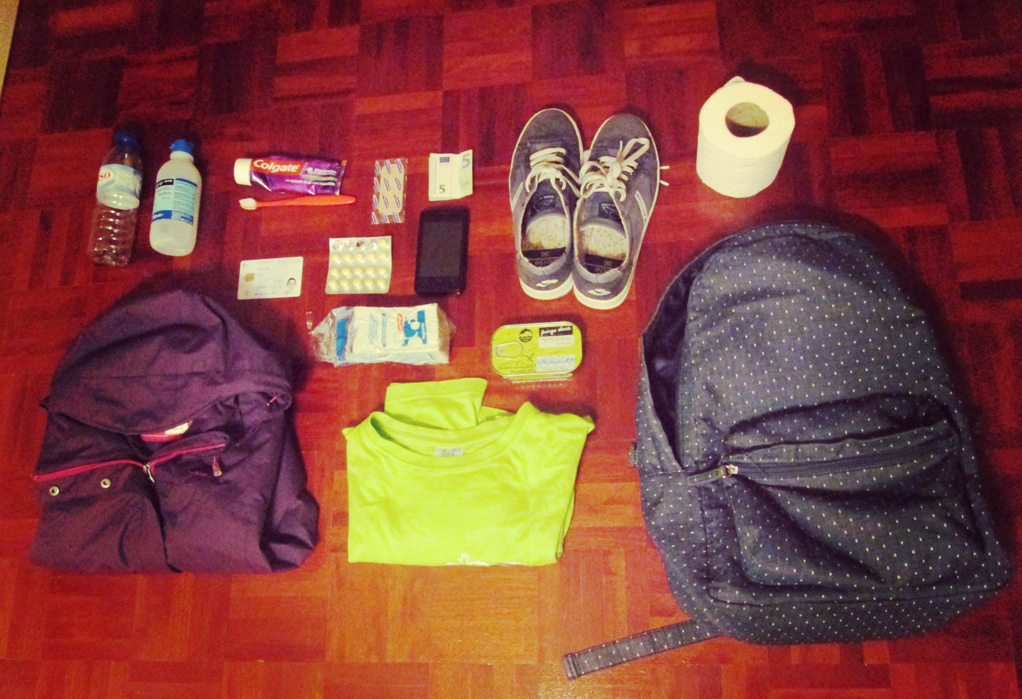 Se fosse um refugiado o que levaria na mochila?